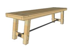 Ana White - How to build a bench (to match the table)