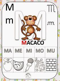 Dani Educar : alfabeto silabado First Grade, Kids And Parenting, Literacy, Back To School, Sons, Alphabet, Homeschool, Classroom, Letters