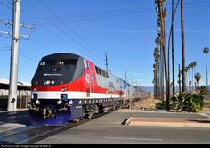 RailPictures.Net Photo: AMTK 42 Amtrak GE P42DC at Riverside, California by Mike A.