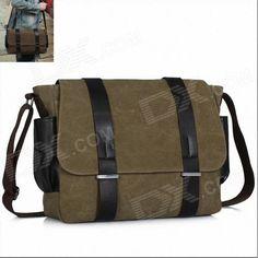 K-930 Fashion Students Shoulder Canvas Bag - Brown