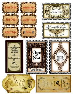This is a post for all you Harry Potter fans. I know, it may seem really nerdy, but I love Harry potter and have since I was a little girl. So imagine my excitement when I found these Harry Potter Potion Bottle Labels. Harry Potter Halloween, Party Harry Potter, Harry Potter Potion Labels, Décoration Harry Potter, Classe Harry Potter, Harry Potter Thema, Harry Potter Classroom, Harry Potter Printables, Harry Potter Christmas