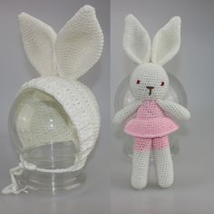 Newborn Photography Props Bunny Crochet Knitting Costume Rabbit Hats Rabbit doll