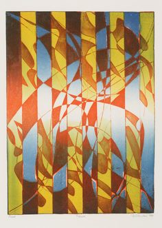 'Pillars' (1974) by Stanley William Hayter