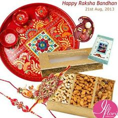 Dryfruit Mix 500gm with Rakhi Card-Thali & Rakhi