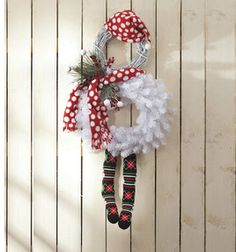 CUTE Snowman Wreath! :)