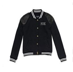 Victoria's Secret Pink Varsity Jacket L Fashion Show #VictoriasSecret #TrackJacket