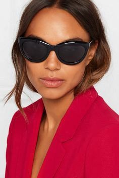 03aa7f78a3 Alaïa - Cat-eye Acetate Sunglasses - Black Alaia