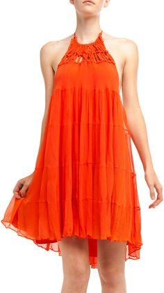 by YaYa Aflalo  Flowy Halter Dress wish I had this