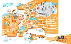 Alesund, Norway. Cathrine Finnema - Map of Alesund Norway