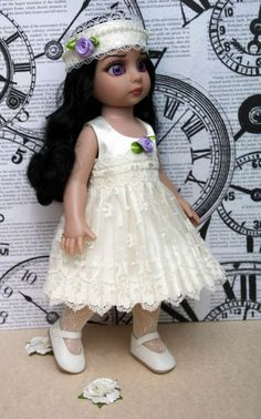 """~LaVeNDeR and LaCe~...a dress & matching hairband for Patsy, Ann Estelle 10""""DoLLs. Newly created with care and at my ebay this week with a buy it now price! Also fits Tonner Sophie and Georgia. Check out my website too!"""
