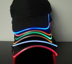 LED Lighted Glow Hat.   ~I think these would be good for the kids when they go camping.
