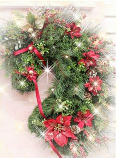 This Wreath was featured in Practical Horsemen Magazine. Decorated with Boxwood, poinsettias and ribbon Bridle. My most popular wreath! Artificial and approximately long by feet wide Western Christmas, Christmas Horses, Christmas Crafts, Christmas Decorations, Christmas Ideas, Xmas, Victorian Christmas, Country Christmas, Christmas Christmas