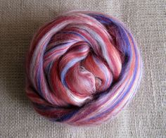 Supergirl  Merino Top Tussah Silk Spinning Felting by GnomeAcres, $9.00