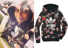 Mindy departs PaleyFest wearing a floral print hoodie, March 25th 2014 Adidas Firebird Floral Hooded Sweatshirt (sold out) You can buy leggi...