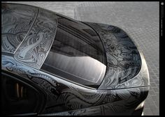 Sharpie art on a BMW by Sheldon Rodriguez