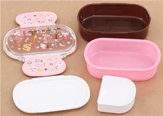 pink brown bear Bento Box Lunch Box from Japan - Bentos - Bento Boxes - kawaii shop modeS4u