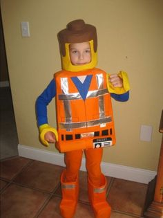 Lego Emmet inspired costume. -Due to high order volumes during Halloween, please message me before ordering to ensure I can complete it.