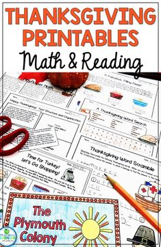 Fun Thanksgiving Printables for Math and Reading