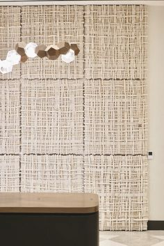 Acoustic Design, Acoustic Wall, Acoustic Panels, Sound Room, Rope Art, Music Wall, Wall Finishes, Panel Wall Art, Textiles
