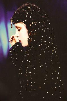 a dramatic and stunning photo of Stevie wearing an unusual hooded garment, black… Lindsey Buckingham, Members Of Fleetwood Mac, Stephanie Lynn, Steampunk, Stevie Nicks Fleetwood Mac, Look Vintage, Female Singers, Her Music, American Singers