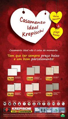 """Krepischi Lar & Construção: Campanha """"Casamento ideal Krepischi"""""""