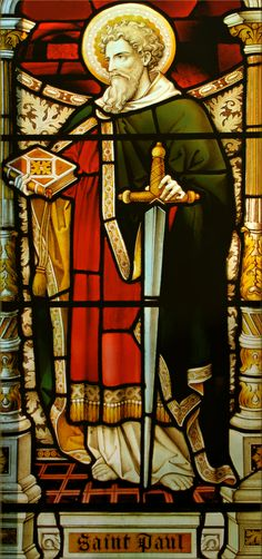 ST. PAUL IN STAINED GLASS