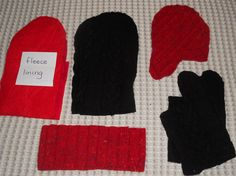 Sweater Mitten Kit and Pattern by SeekethWool on Etsy, $6.00