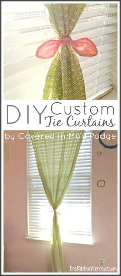 DIY Custom Tie Curtains - The Ribbon Retreat Blog