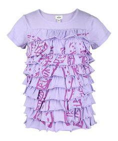 Take a look at this Lavender Ruffle Tunic - Infant, Toddler & Girls by RUUM on #zulily today!
