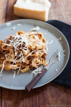 Cocina italiana: Pasta a la boloñesa