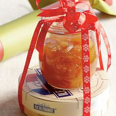 Southern Living - A jar of Caramelized Ginger Pears is both a tasty and thoughtful gift. Suggest serving this homemade food gift over a favorite dessert, or over baked brie and serve as an appetizer. Christmas Food Gifts, Homemade Christmas Gifts, Handmade Christmas, Christmas Ideas, Christmas Goodies, Christmas Recipes, Hanukkah Gifts, Christmas Appetizers, Father Christmas