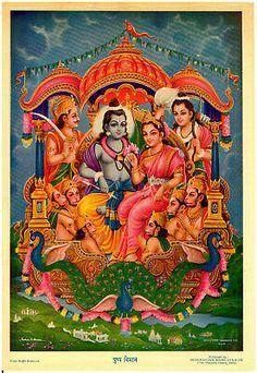 INDIA VINTAGE Mythological Hindu Goddess Print - Sri Khoriyar Jivan Leela - $10.95   PicClick Durga Images, Lord Krishna Images, Radha Krishna Pictures, Shri Ram Wallpaper, Radha Krishna Wallpaper, Ocean Wallpaper, Hanuman Pics, Shri Hanuman, Tanjore Painting