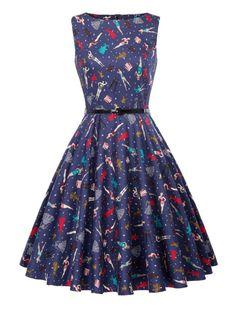 That 50s Feeling Whimsical Retro Dress 1950s Vintage Inspired Dress