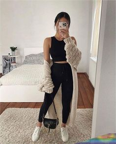 Trendy Fall Outfits, Cute Comfy Outfits, Casual Winter Outfits, Winter Fashion Outfits, Look Fashion, Stylish Outfits, Spring Outfits, Casual Teen Fashion, Girl Clothing