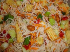 Salata thailandeza - Bucataria cu noroc Oriental, Exotic Food, Japchae, Spaghetti, Ethnic Recipes, Noodle
