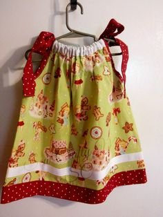 OOAK/Christmas Pillowcase Dress/Henry by SewCraftyMeSC on Etsy