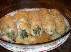 Asparagus - Prosciutto Stuffed Chicken Rolls