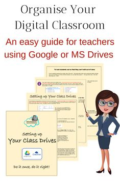 Setting up Your Digital Classroom Folders Classroom Organization, Classroom Management, Work Folders, One Note Microsoft, Class Notes, Positive Reinforcement, Google Classroom, Learning Resources, Student Work