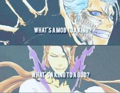 Grimmjow the King  Aizen the God
