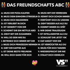 Das Freundschafts ABC