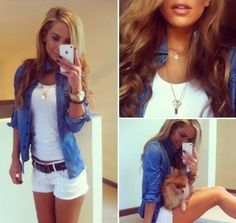 cute outfit... minus the dog *LOL* find more women fashion ideas on www.misspool.com