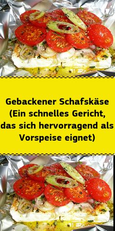 Baked sheep& cheese (a quick dish that is great as an appetizer) ONLY FOR YOU vegetarisch lifestyle recipes grillen rezepte rezepte schnell Healthy Dessert Recipes, Yummy Snacks, Healthy Snacks, Tapas, Mezze, Eat Smart, Queso, Quick Easy Meals, Food Inspiration
