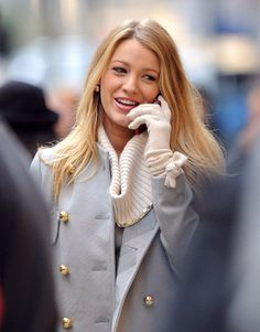 { Blake and the coat, cowneck and gloves }