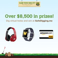 Call 811 presents: Can You Dig It? Win prizes, watch out for the pesky gopher, & learn about dirt! http://safedigging.me/index.php #safediggingmonth