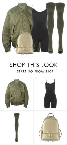 """Untitled #352"" by samstyles001 on Polyvore featuring adidas Originals, SPANX, YEEZY Season 2 and Michael Kors"