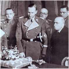 Reinhard Heydrich upon his position appointment as Protector of Bohemia and Moravia in 1941 in Prague, Czechoslovakia