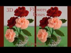 Como hacer flores Nochebuena a Crochet en punto 3D tejido tallermanualperu | Cantinho do Video Crochet Small Flower, Crochet Flowers, Crochet Videos, Small Flowers, Irish Crochet, Crochet Doilies, Crochet Projects, Knitting Patterns, Diy And Crafts