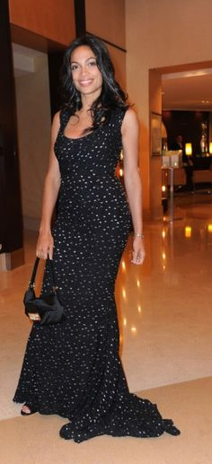 Cannes, May 2011    Rosario Dawson has chosen a black satin Baguette at the Martinez Hotel in Cannes in May.