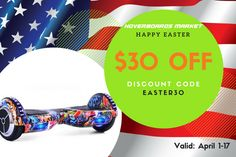 Hoverboard easter sell!!!   Use this voucher and buy your hoverboard for this summer  http://hoverboardsmarket.com  #hoverboard #easter #cheaphoverboard