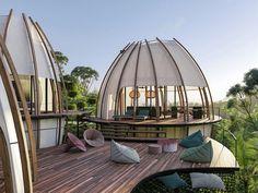 art villas resort in costa rica to welcome cone-shaped pods Costa Rica, Stone Tub, Imagination Art, Timber Cladding, Resort Villa, Wild Life, Glamping, Architecture Design, Amazing Architecture